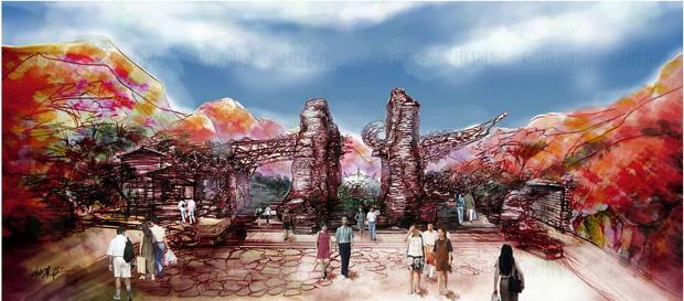 山西阳泉翠枫山自然风景区――生态大门