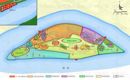 砚州岛项目结构图